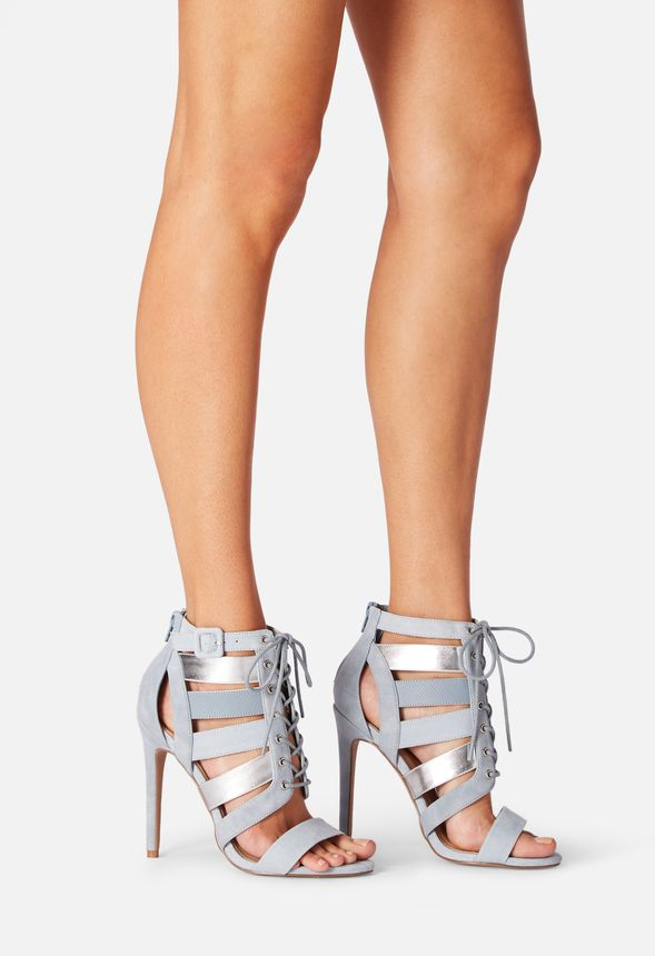 14d1db9dfe Katty Lace Up Heeled Sandal in Light Blue - Get great deals at JustFab