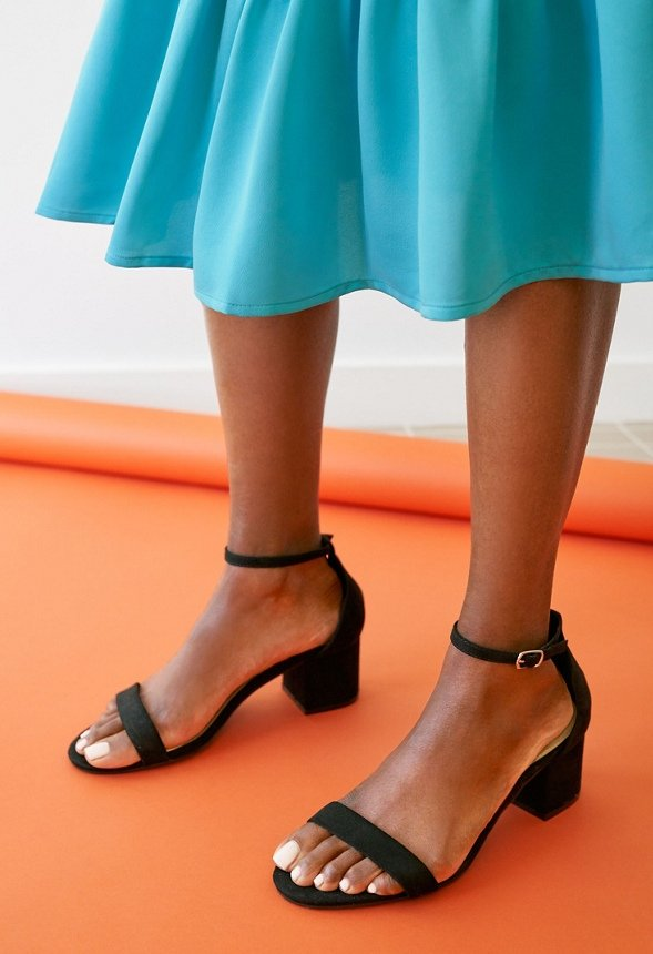 eef49c4b6ce Noura Heeled Sandal in Black - Get great deals at JustFab