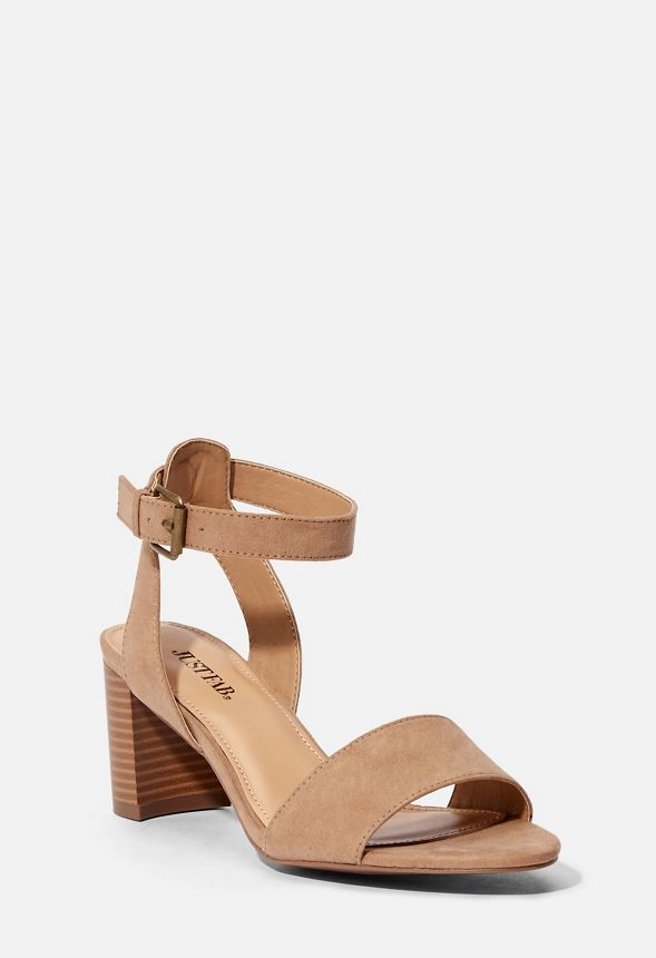 3e7053664d43 Ansel Block Heeled Sandal in Taupe - Get great deals at JustFab