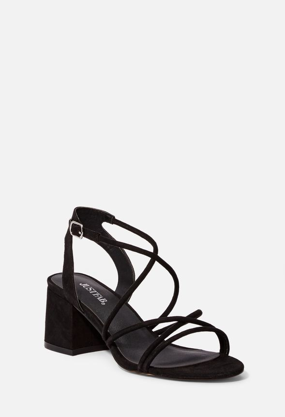 06f74ca84 Addisen Low Block Heeled Sandal in Black - Get great deals at JustFab