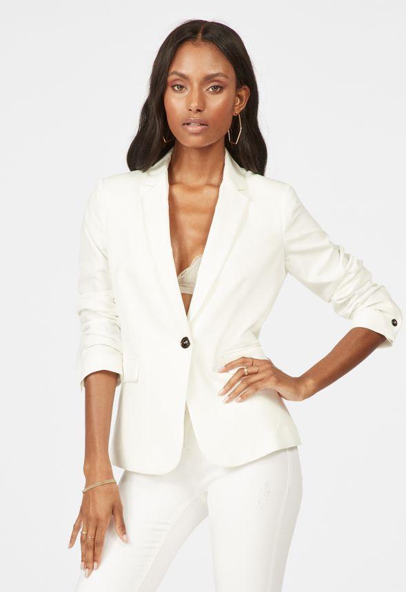 calidad superior 100% autentico varios estilos Mango Single Button Blazer in Cream - Get great deals at JustFab