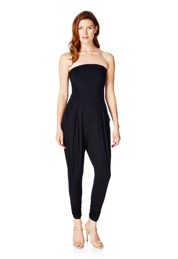 0ee0610926df Strapless Knit Jumper in Black - Get great deals at JustFab