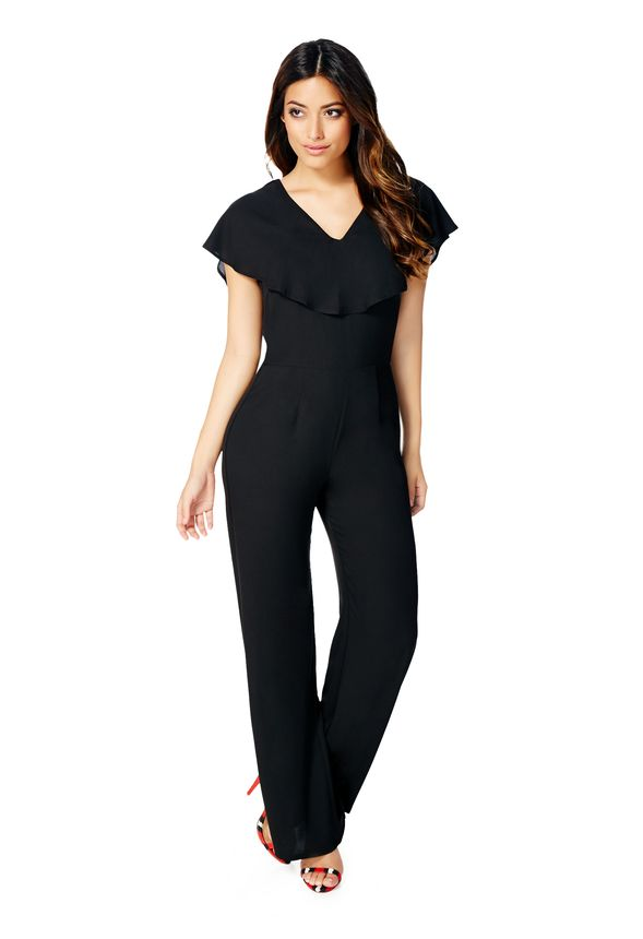 26b18fbdf0f7 Flutter Sleeve Jumpsuit in Black - Get great deals at JustFab
