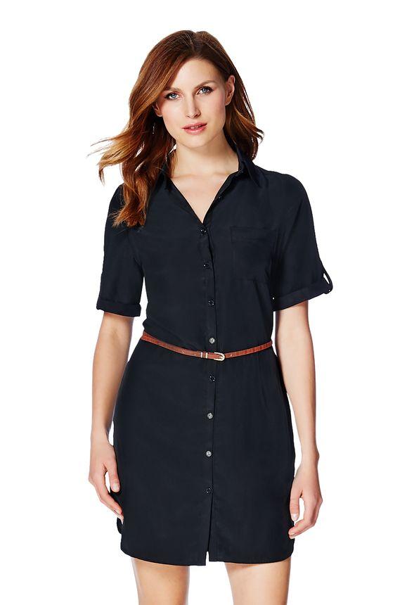 Short Sleeve Shirt Dress in Short Sleeve Shirt Dress - Get great ...