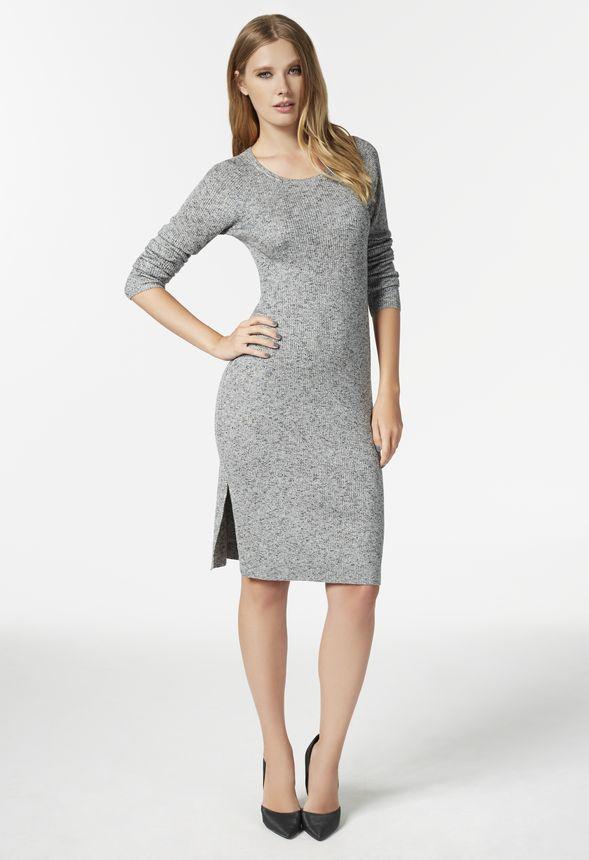 4e39c785a28 Side Slit Sweater Dress in Side Slit Sweater Dress - Get great deals ...