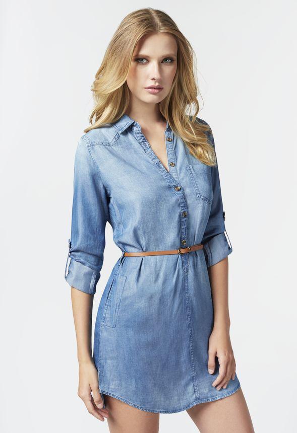 c08fc67de2a Chambray Shirt Dress in Chambray Shirt Dress - Get great deals at ...