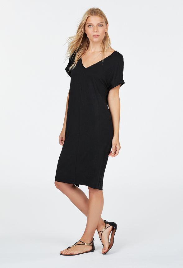 e7aef2544329f7 Knit T-Shirt Dress in Black - Get great deals at JustFab