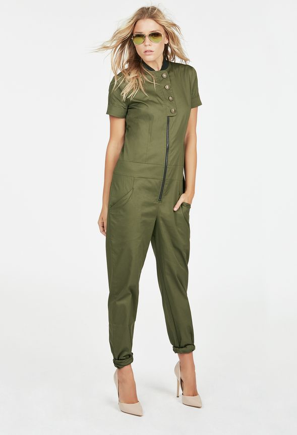 f8fd488b8b8f Project Runway Jumpsuit in Olive - Get great deals at JustFab