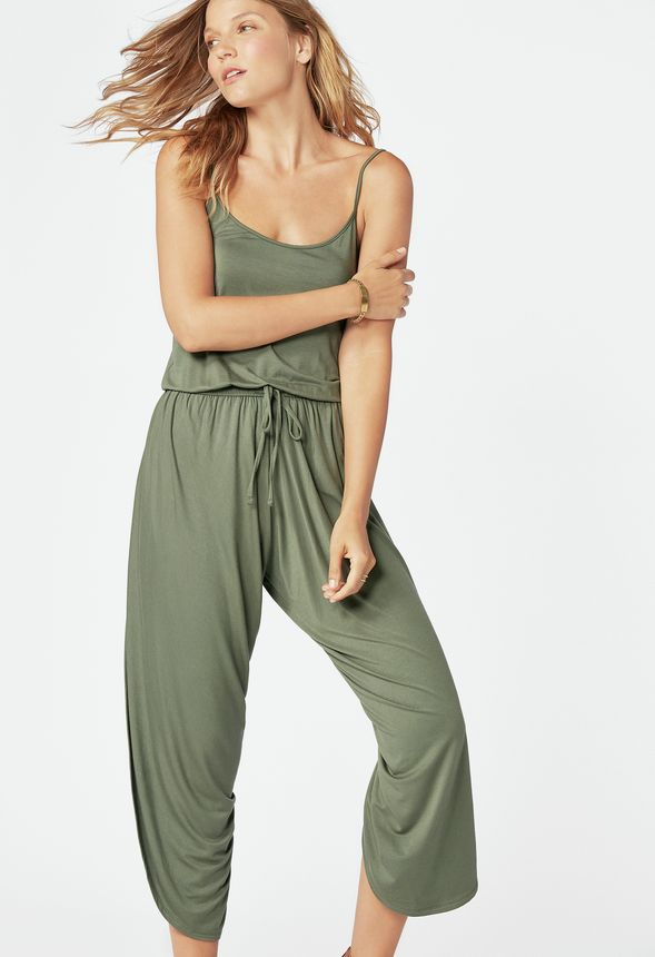52fe5185357 Draped Jumpsuit in duck green - Get great deals at JustFab