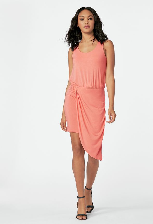04c5444f0196 Asymmetric Tank Dress in passion fruit - Get great deals at JustFab
