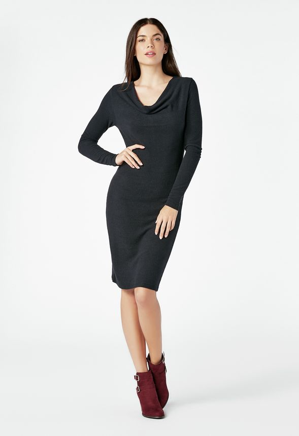 e8b65b05dcb Cowl Neck Dress in Black - Get great deals at JustFab
