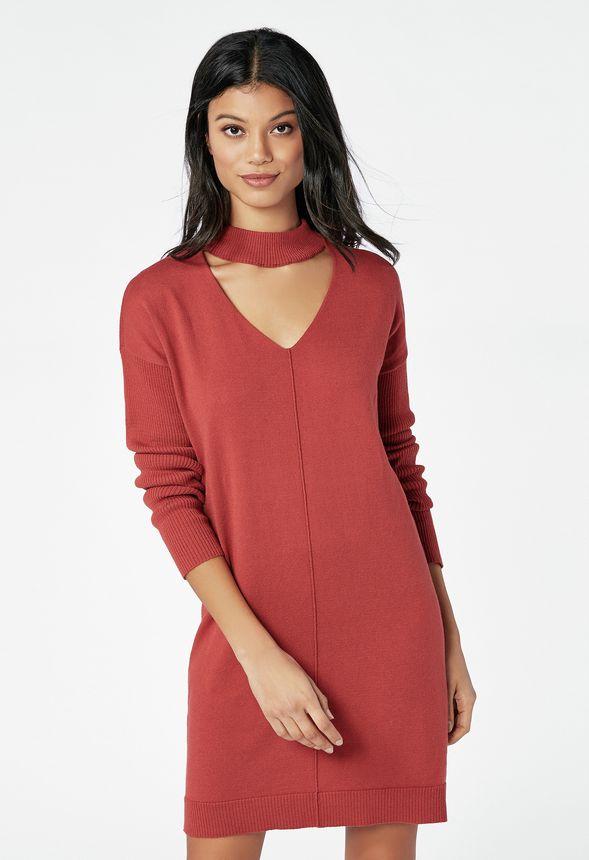 7a5532117 Choker Sweater Dress in bossa nova - Get great deals at JustFab