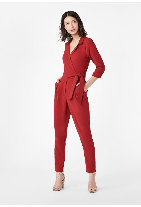 d284f5948c64 Belted Jumpsuit in red dahlia - Get great deals at JustFab