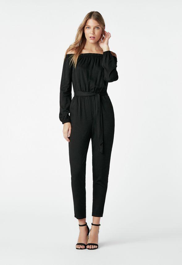d6d649146d63 Off Shoulder Jumpsuit in Black - Get great deals at JustFab