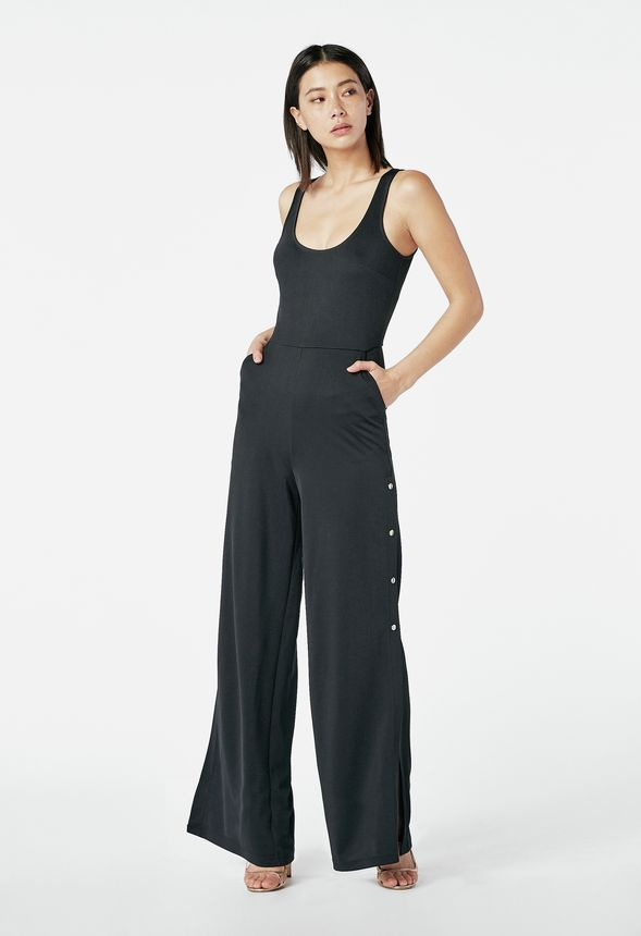 48e220a2e842 Wide Leg Jumpsuit in Black - Get great deals at JustFab