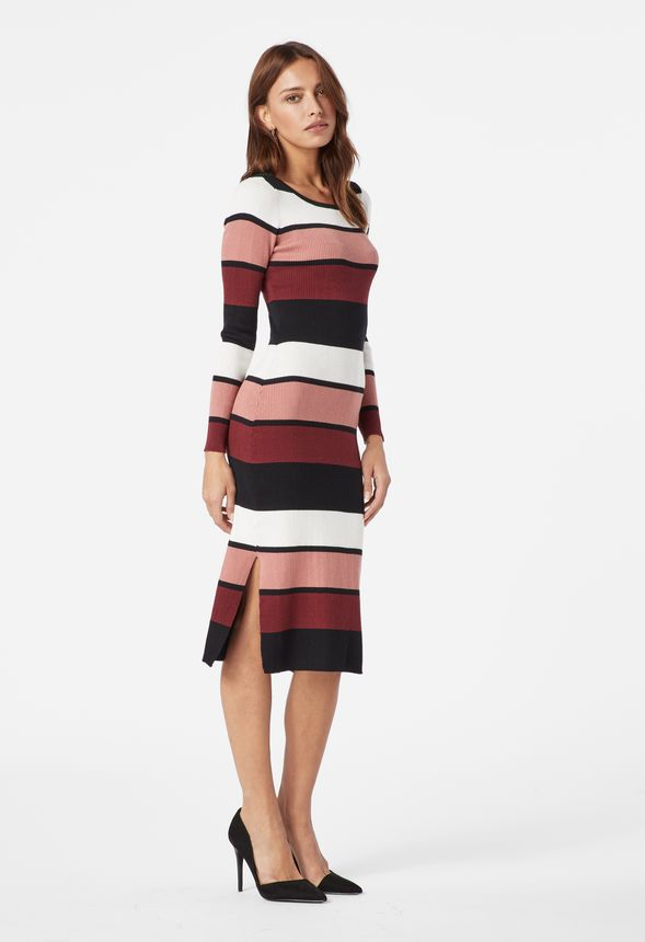 c4783e62ae Stripe Sweater Dress in PINK MAUVE MULTI - Get great deals at JustFab