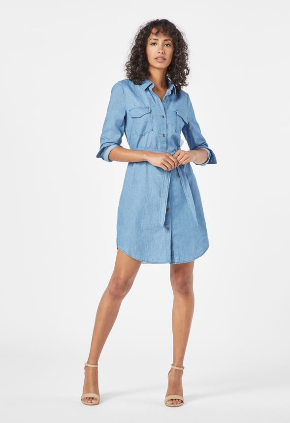 a51064d38b Shift Chambray Shirt Dress in CHAMBRAY - Get great deals at JustFab