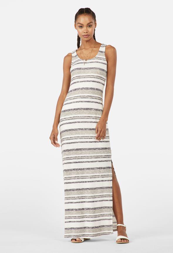 5759f2f7c14c3 Slub Knit Maxi Dress in Grey Multi - Get great deals at JustFab