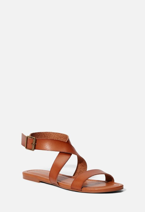46579288ad8aba Soleila Flat Sandal in Cognac - Get great deals at JustFab