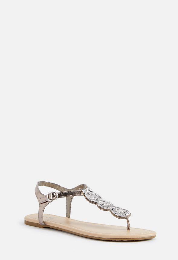 1fec8ca1d Razeena Flat Sandal in Pewter - Get great deals at JustFab