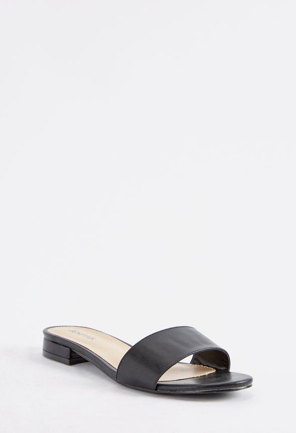 40706ed38b0659 Frances Slide Sandal in Black - Get great deals at JustFab