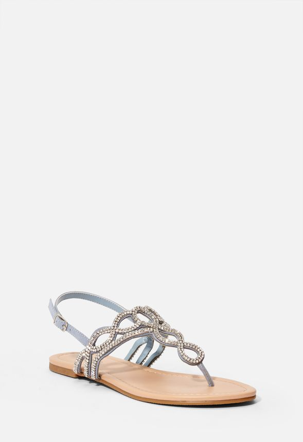 Ellentine Embellished Flat Sandal in
