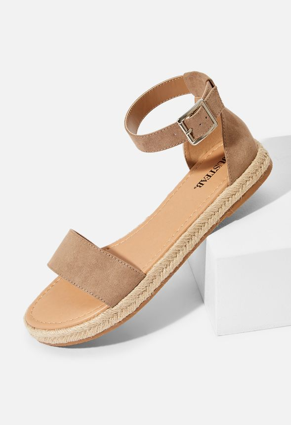 f578100cb577 By The Sea Espadrille Sandal in Light Taupe - Get great deals at JustFab