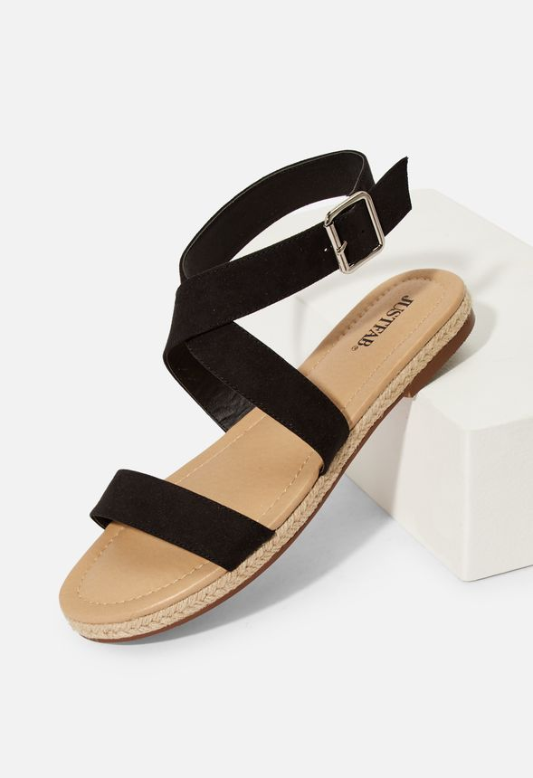 f9583f83360 Delilah Espadrille Flat Sandal in Black - Get great deals at JustFab