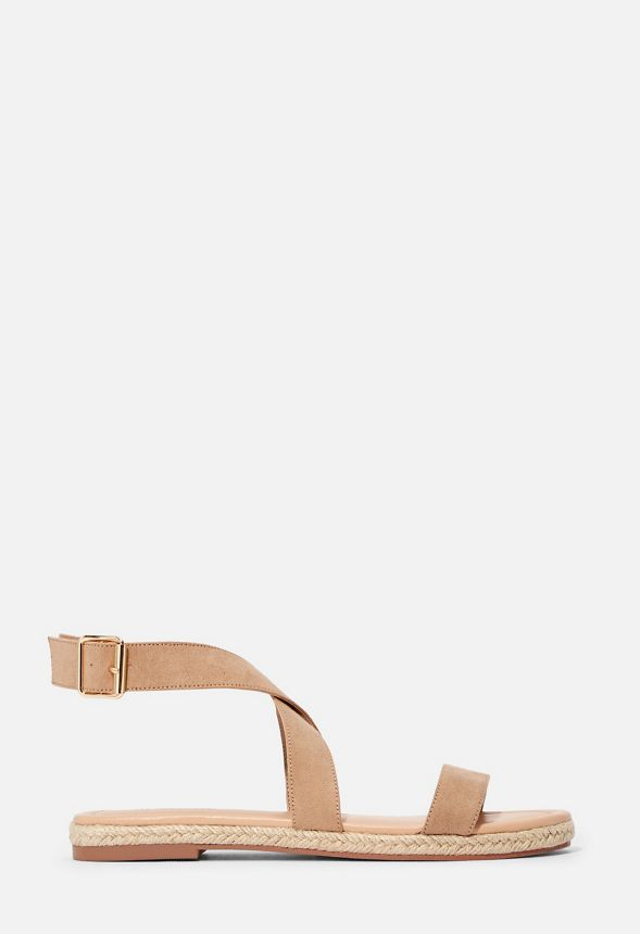 eb02aa67282 Delilah Espadrille Flat Sandal in Taupe - Get great deals at JustFab
