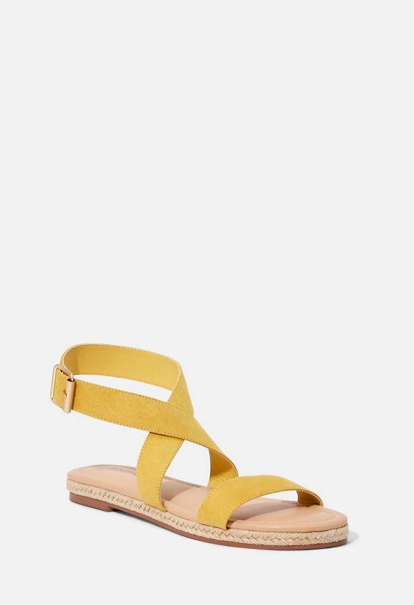 f5152eb1768 Delilah Espadrille Flat Sandal in golden spice - Get great deals at ...