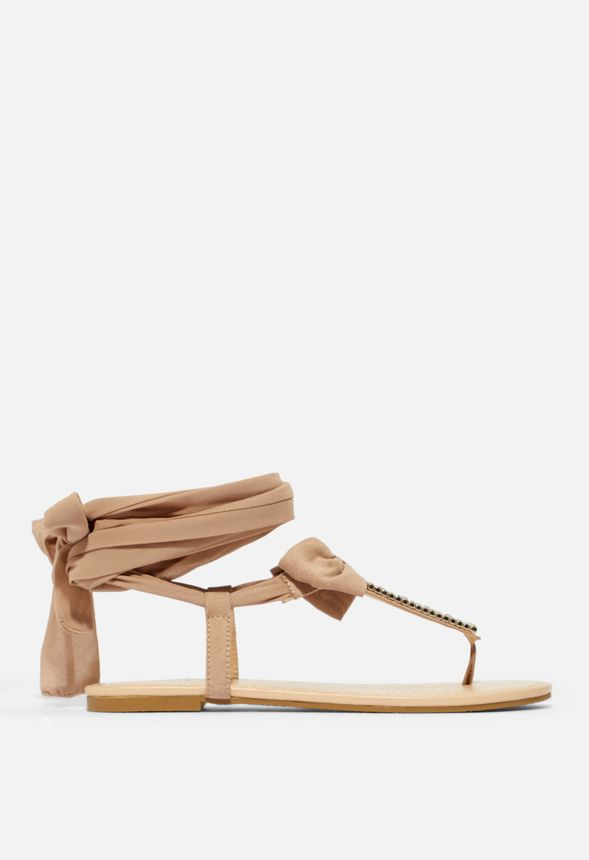 Jeslene Lace Up Flat Sandal in Jeslene