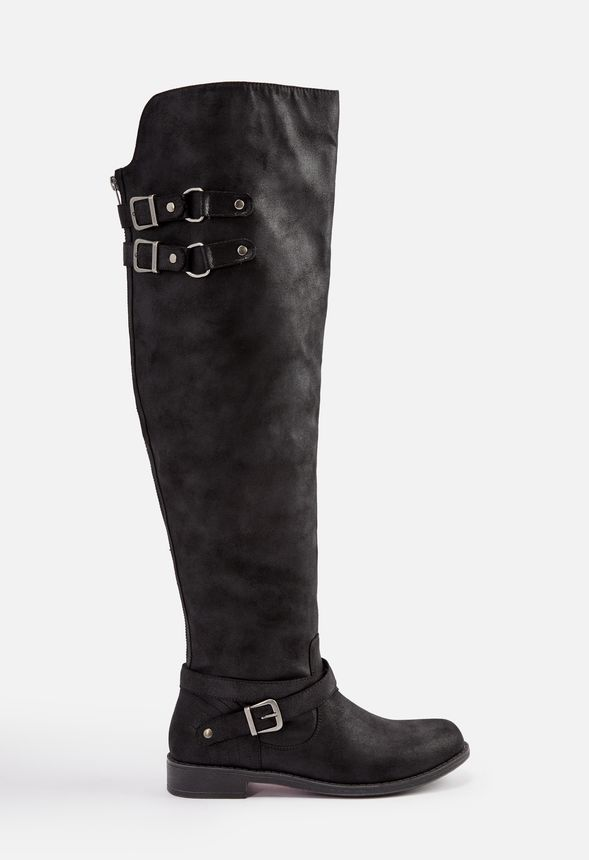 b6100e53bc07 Carmona Faux Leather Riding Boot in Black - Get great deals at JustFab
