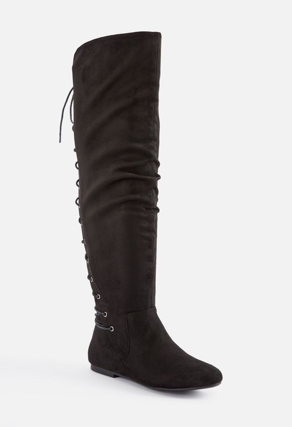 9a95673bcf615 Marian Lace-Up Back Over-The-Knee Boot in Black - Get great deals at ...