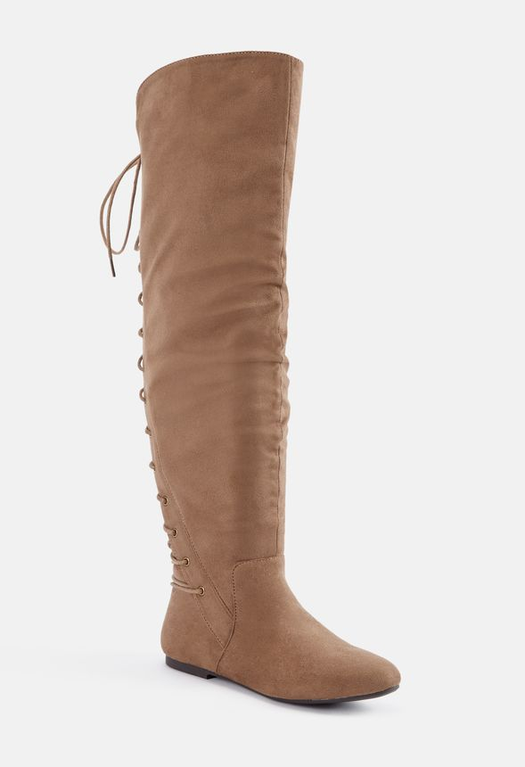 ed028279a Marian Lace-Up Back Over-The-Knee Boot in Taupe - Get great deals at ...