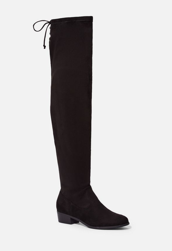 dcdc3f20a362 Abbie Stretch Over-The-Knee Boot in Black - Get great deals at JustFab