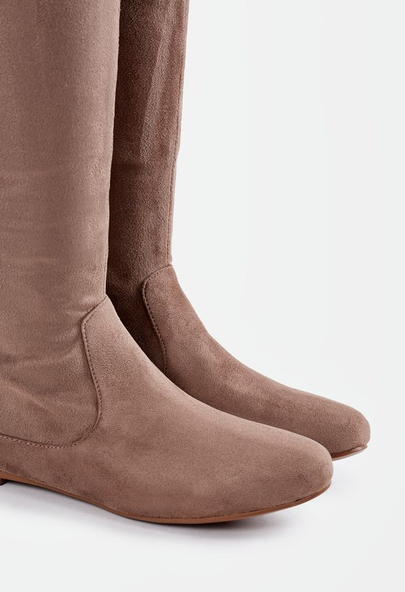 f2b1a7acdb6 Linnea Flat Boot in Taupe - Get great deals at JustFab