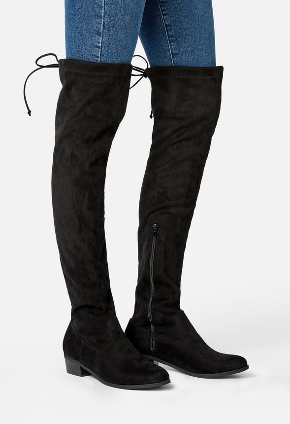69442d9708e Orli Over The Knee Boot in Black - Get great deals at JustFab