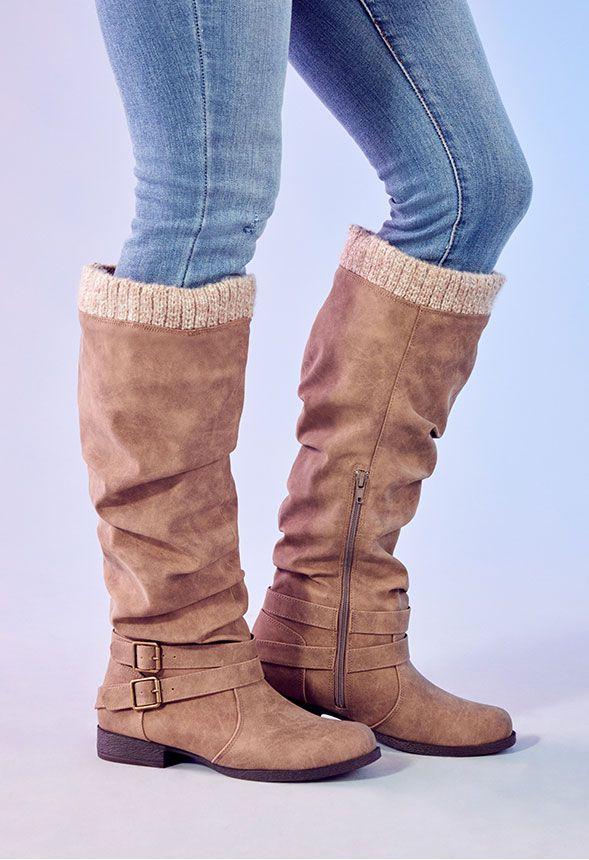Pilar Sweater Cuff Boot in Tan - Get