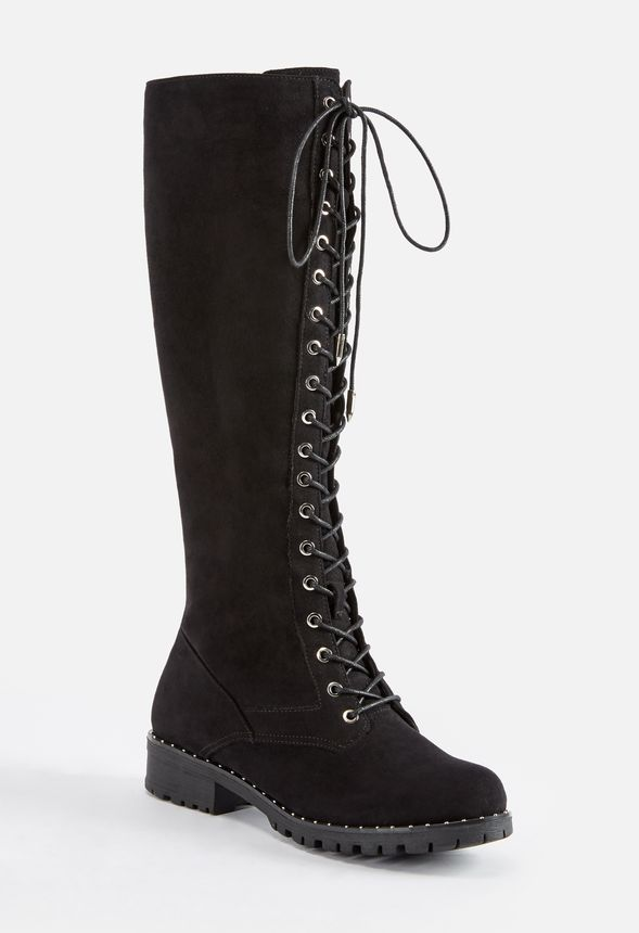 b7f732e2248 Ramona Over-The-Knee Lace-Up Boot in black faux suede - Get great ...