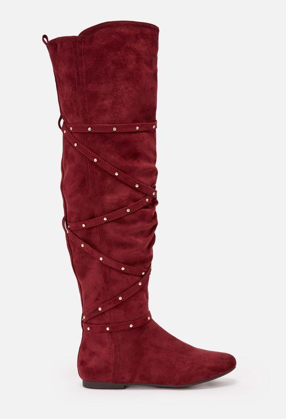 d78b4532b06 Shawnee Flat Boot in Burgundy - Get great deals at JustFab