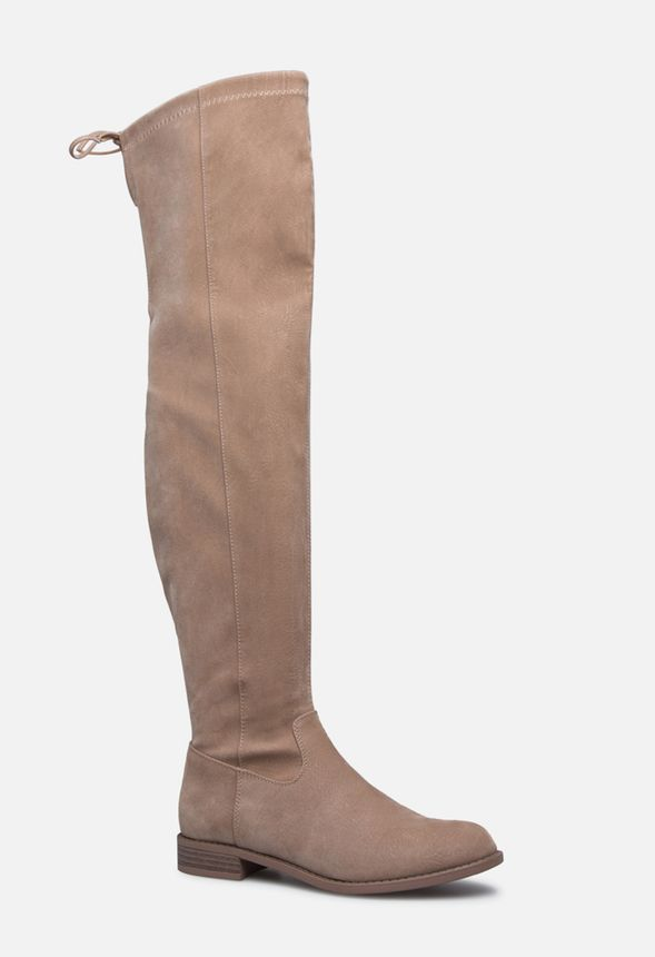 bb4f012d0325 Jessi Thigh High Boot in Taupe - Get great deals at JustFab