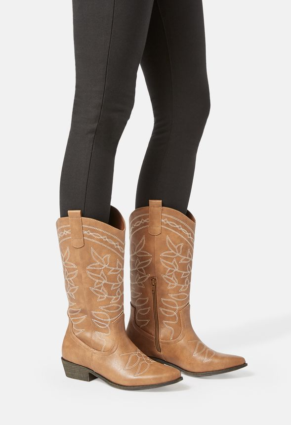 Jessie Embroidered Cowboy Boot in Jessie Embroidered Cowboy