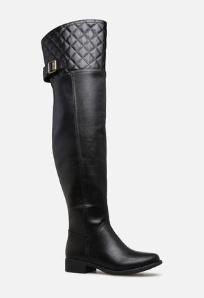 d514374bdb3b Jessi Thigh High Boot in Black - Get great deals at JustFab