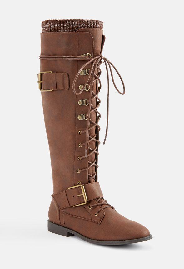 Svana Lace-Up Tall Boot in Svana Lace
