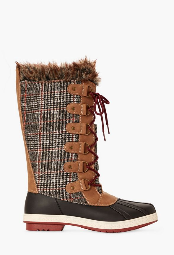 c7b94d94884 Marley Quilted Faux Fur Snow Boot in Black - Get great deals at JustFab