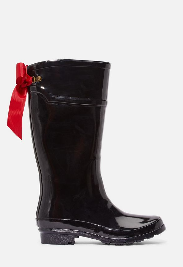 Rain Boots With Ribbon On Back