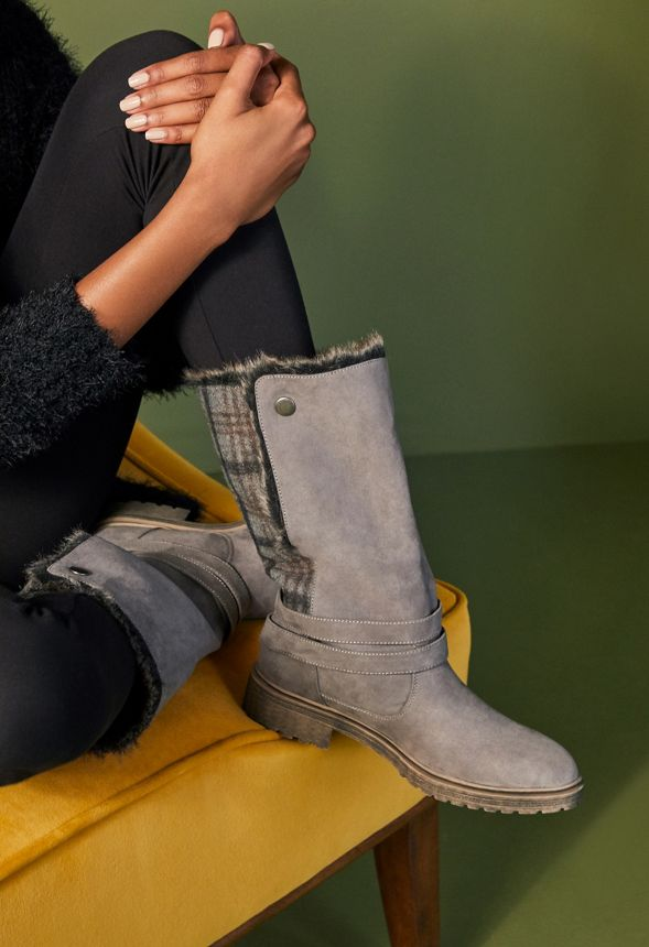 ef8651c1524 Mckenna Faux Fur Winter Boot in Gray - Get great deals at JustFab
