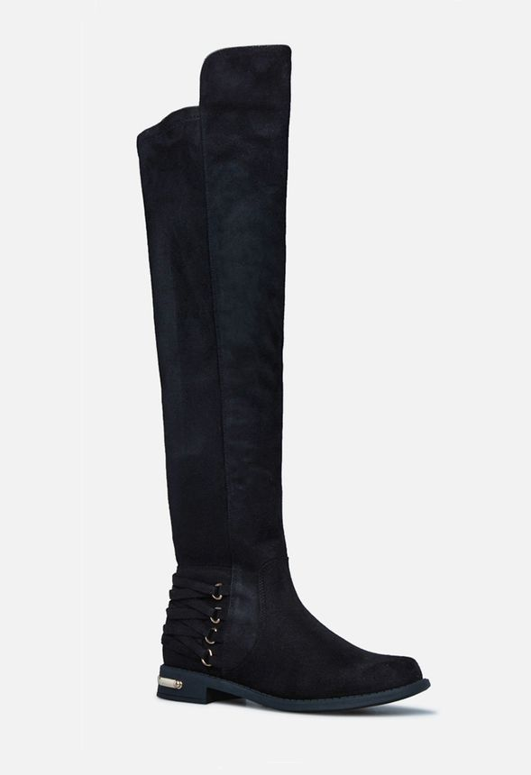 Gabriele Corset Back Boot in Black Get great deals at JustFab