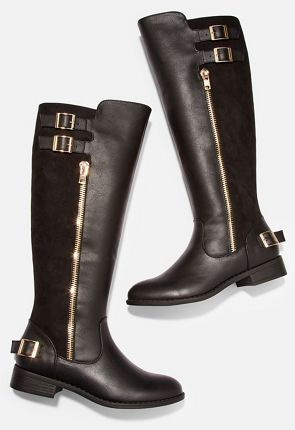 266aaafcc90 Women's Black Knee High Boots On Sale - 75% Off Your First Item ...