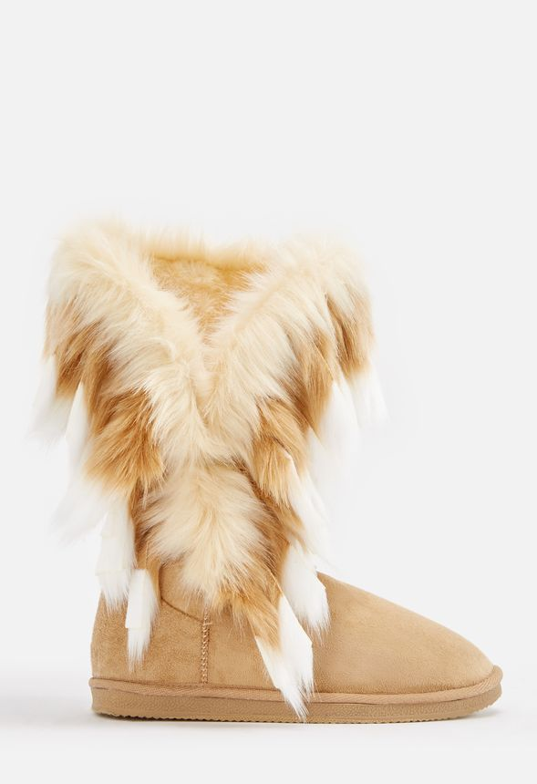 f443bbadfc58 Winter s Coming Furry Fuzzie in Tan - Get great deals at JustFab
